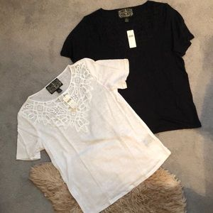 Anthropologie Bundle! Black and White T-Shirt